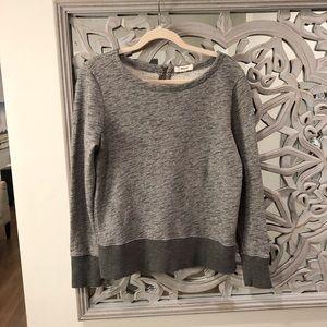 MADEWELL Long Sleeve, Gray Sweater/Top Zip Back M